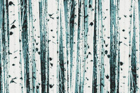 Turquoise Birch Trees Contemporary Photorealistic Mosaic by Artaic