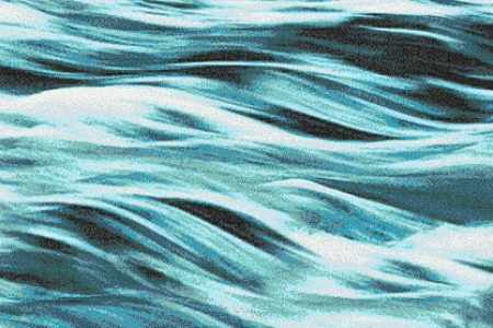 Turquoise waves Contemporary Artistic Mosaic by Artaic