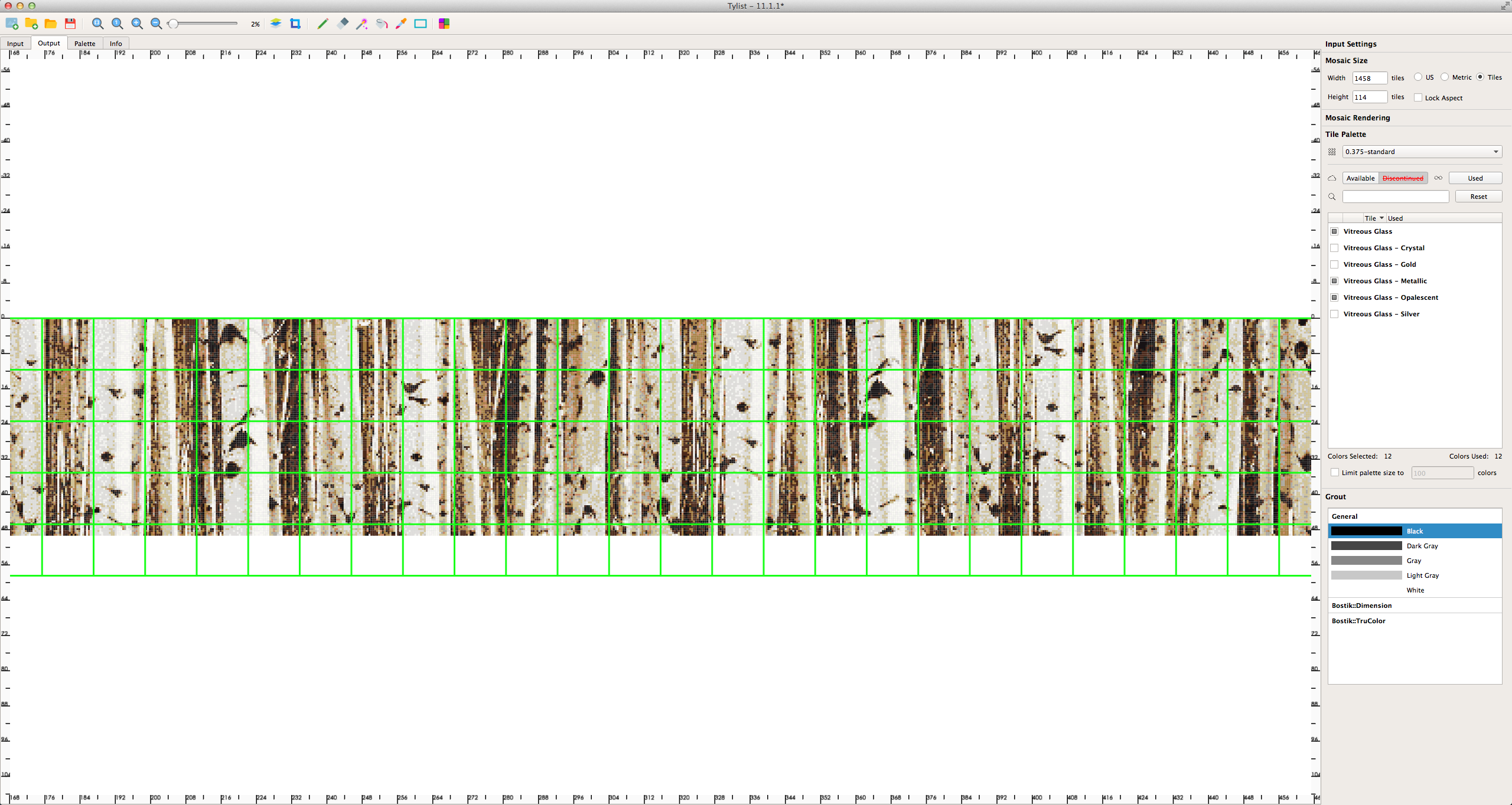 01161076 Cliff Lodge ballroom Aspen Naturally Refine Mosaic birch trees tylist screen shot