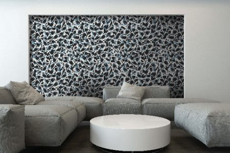 Blue dots Traditional Geometric Mosaic installation by Artaic