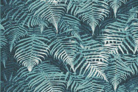 Blue ferns Modern Floral Mosaic by Artaic