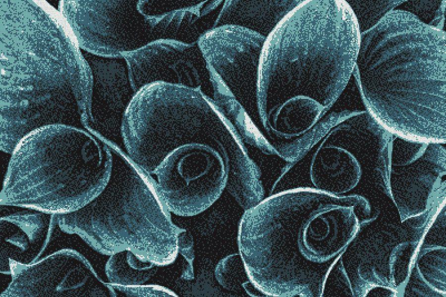 Blue flower bouquets Modern Floral Mosaic by Artaic