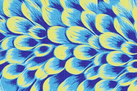 Blue flower petals Modern Floral Mosaic by Artaic