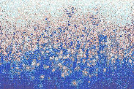 Blue Flowers Modern Floral Mosaic by Artaic