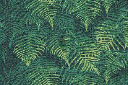 Green ferns Modern Floral Mosaic by Artaic