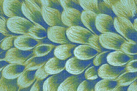 Green flower petals Modern Floral Mosaic by Artaic