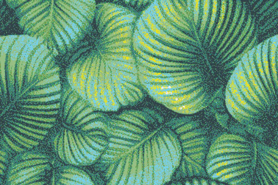 Green forest canopy Modern Floral Mosaic by Artaic