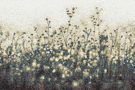 Neutral Flowers Modern Floral Mosaic by Artaic