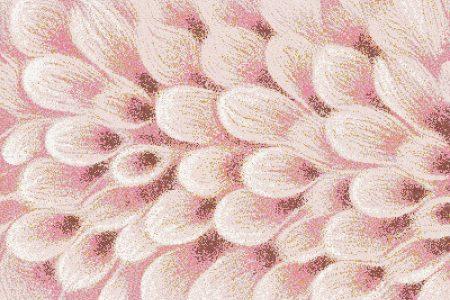 Pink flower petals Modern Floral Mosaic by Artaic