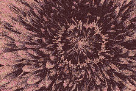 Purple Blooms Modern Floral Mosaic by Artaic