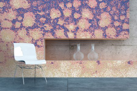 Purple hydrangeas Modern Floral Mosaic installation by Artaic