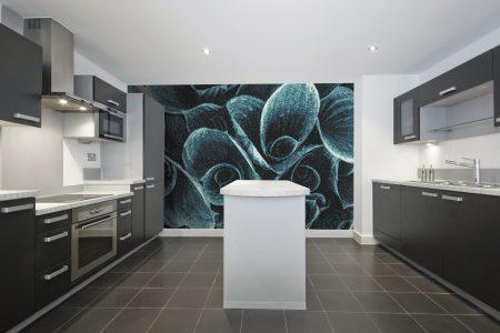 Blue flower bouquets Modern Floral Mosaic installation by Artaic