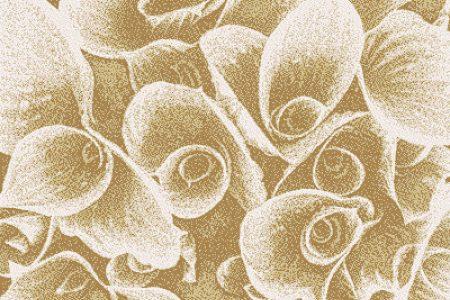 Tan flower bouquets Modern Floral Mosaic by Artaic