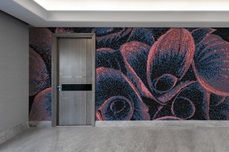Multi flower bouquets Modern Floral Mosaic installation by Artaic