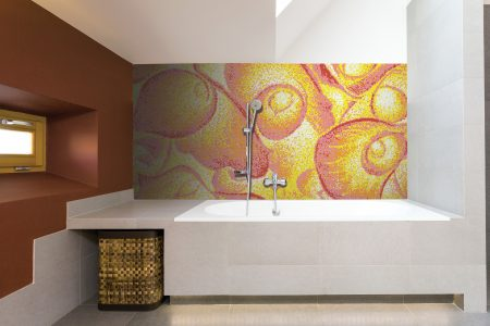 Yellow flower bouquets Modern Floral Mosaic installation by Artaic