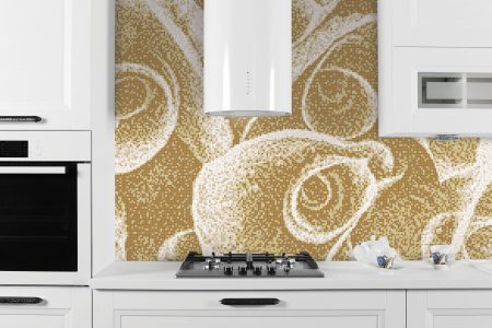 Tan flower bouquets Modern Floral Mosaic installation by Artaic