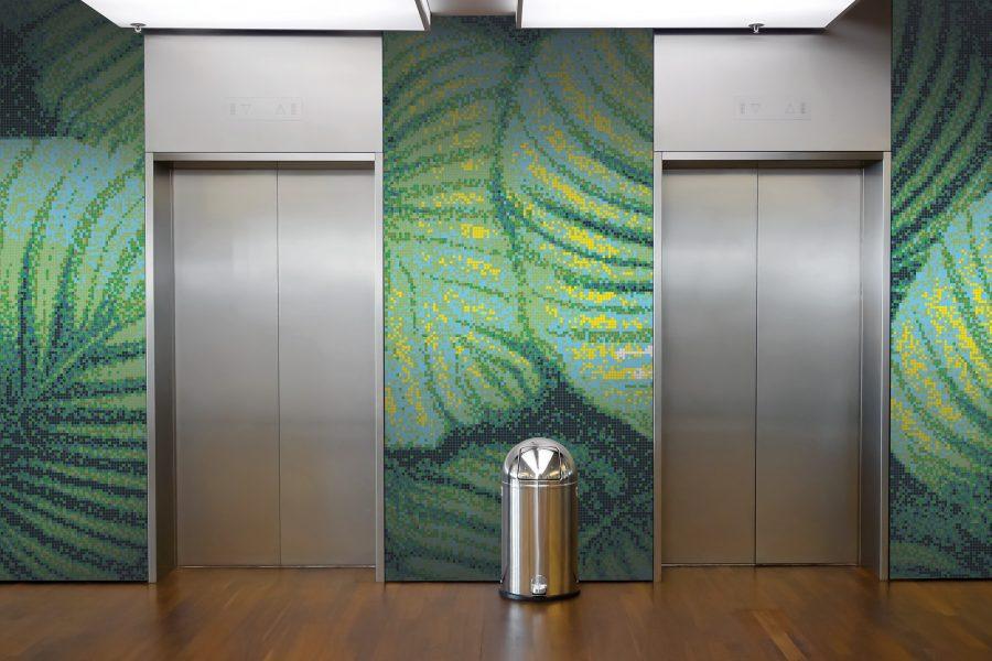 green forest canopy tile pattern | sunshade tropicartaic