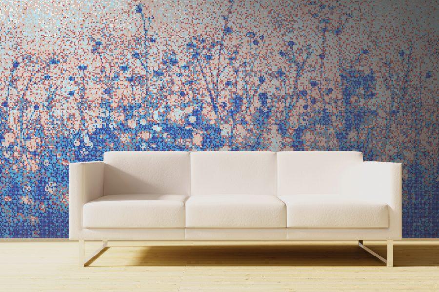 Blue Flowers Tile Pattern Wildflower Twilight By Artaic