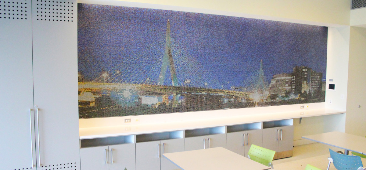 01124025 Spaulding Hospital custom mosaic Zakim Bridge custom mosaic