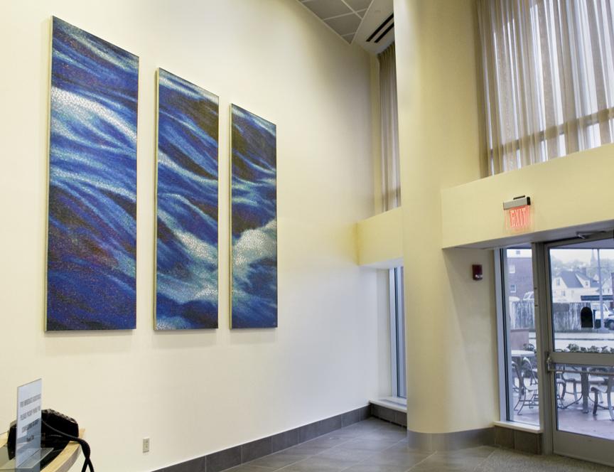 09-308 L'Attitude_Coastal Sails Children's Hospital Boston Vitreous Glass Mosaic Triptych