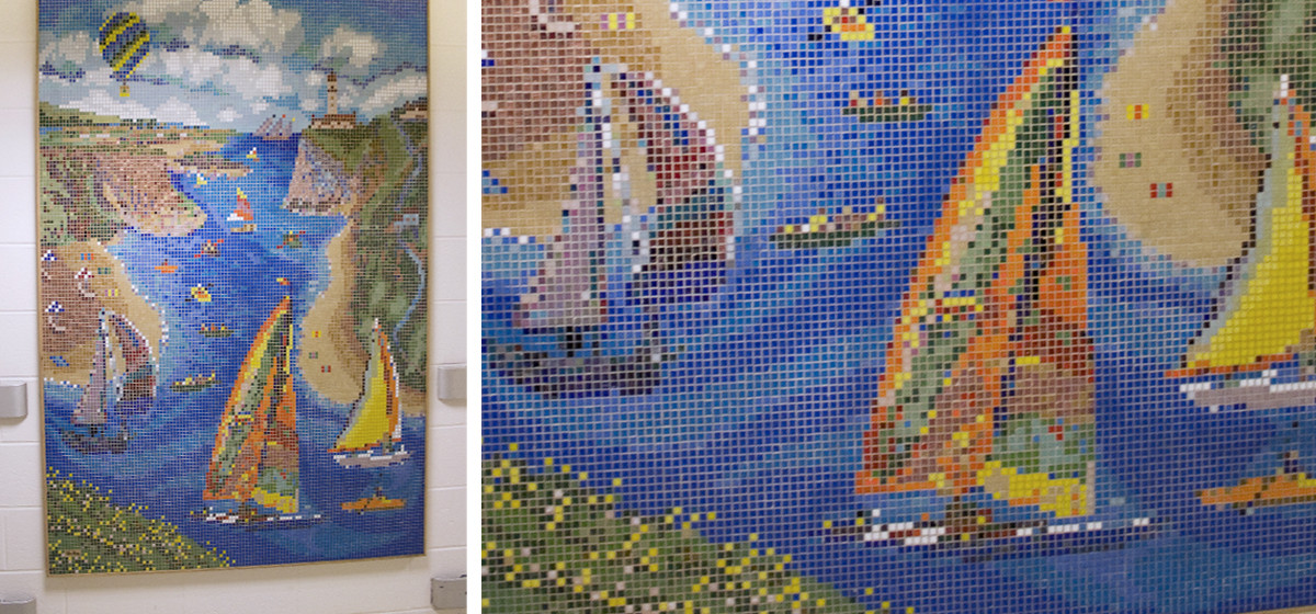 09-308 L'Attitude_Coastal Sails Children's Hospital Boston Custom Mosaic Feature Piece