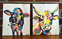 Cow imagery painting