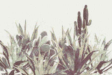 Neutral Cacti Modern Floral Mosaic by Artaic