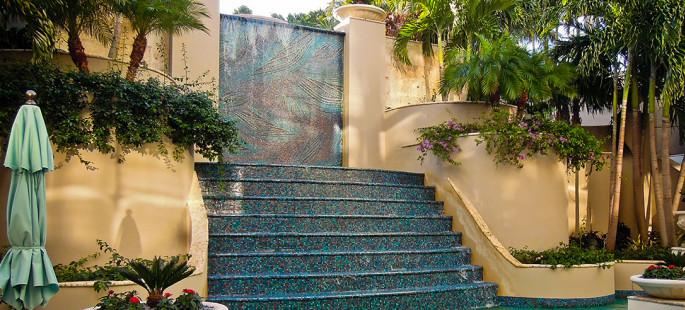 Ritz Carlton Coconut Grove Mosaic Mural