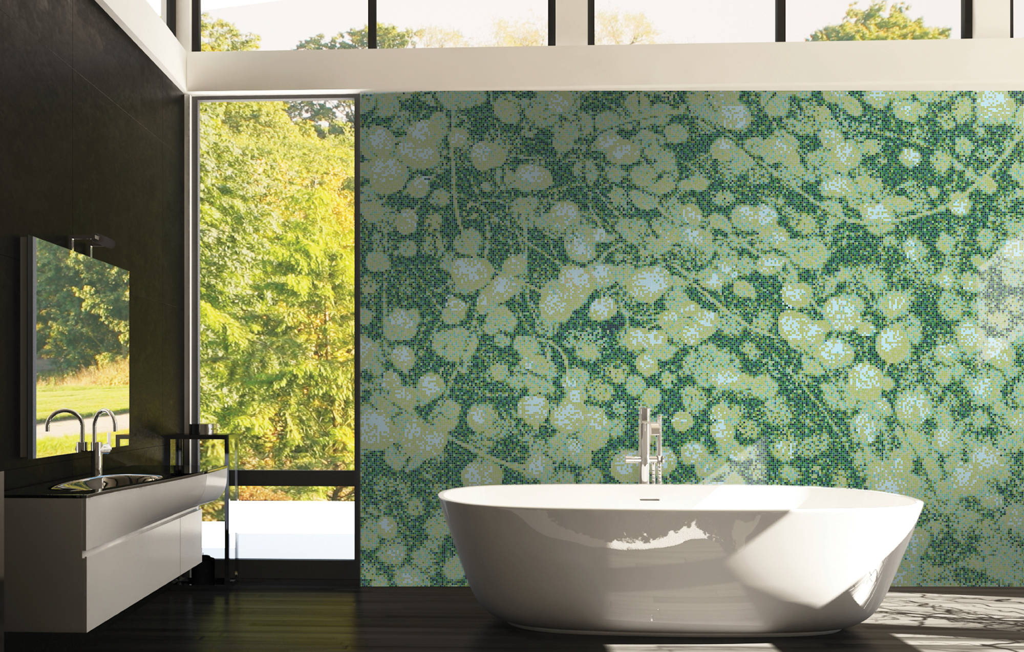 green-tile-mosaic-in-bathroom