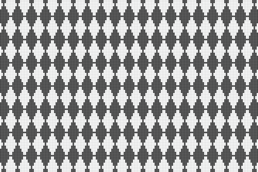 Grey Repeating Contemporary Geometric Mosaic by Artaic
