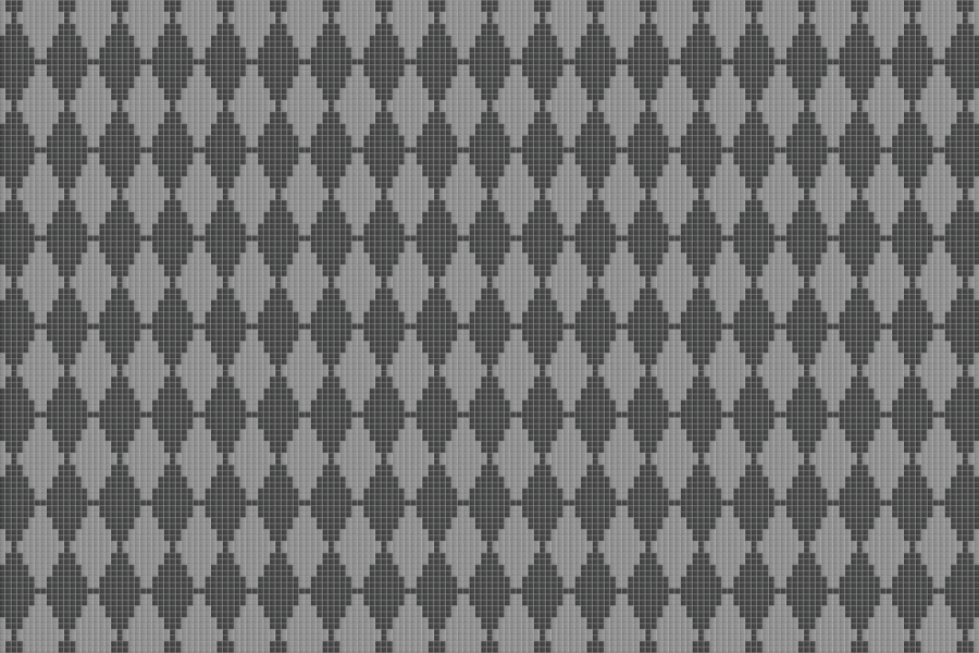 Grey Repeating Contemporary Geometric Mosaic by Artaic