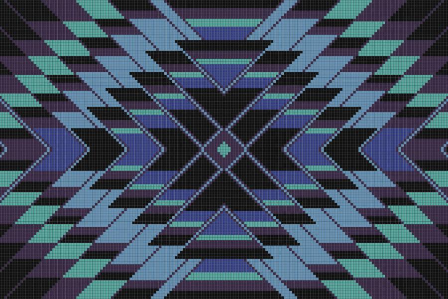Mirage Aquatic Tile Pattern