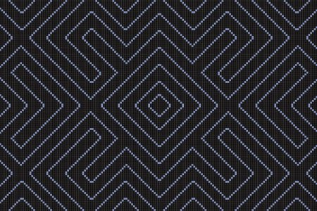 Black Repeating Contemporary Geometric Mosaic by Artaic