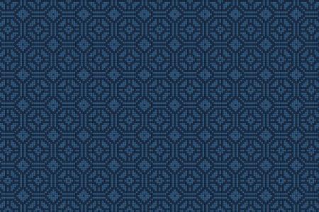 Blue Repeating Contemporary Geometric Mosaic by Artaic