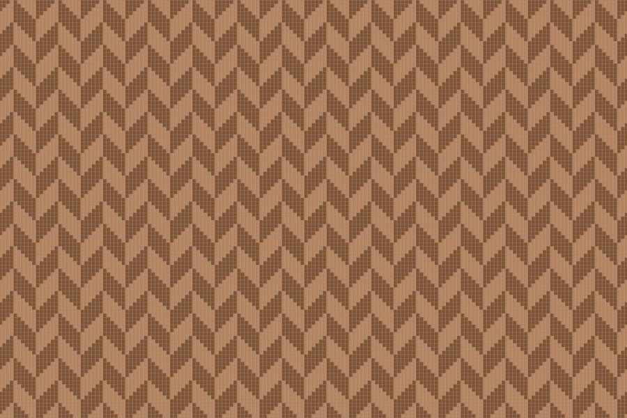 Brown Repeating Contemporary Graphic Mosaic by Artaic