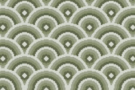 Green Repeating Contemporary Geometric Mosaic by Artaic