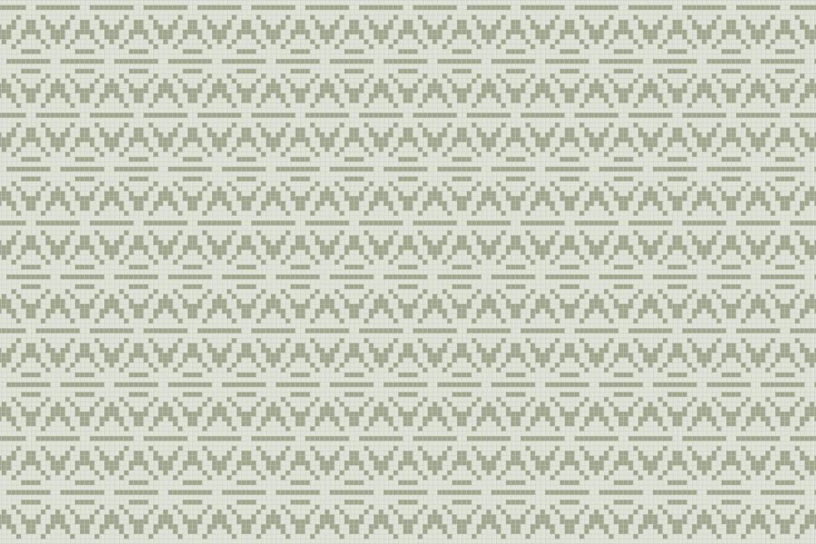 green repeating tile pattern wigwam sagemoss by artaic