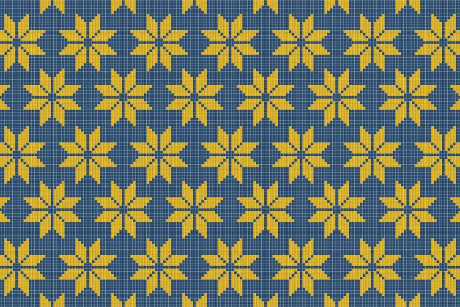 Multi Repeating Contemporary Geometric Mosaic by Artaic