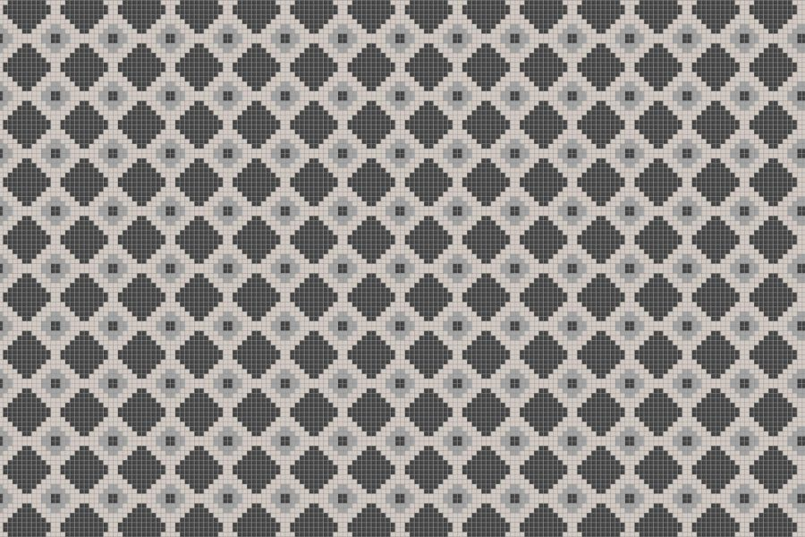 Neutral Repeating Contemporary Geometric Mosaic by Artaic