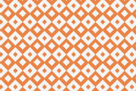Orange Repeating Contemporary Geometric Mosaic by Artaic