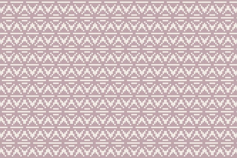 Pink Repeating Contemporary Geometric Mosaic by Artaic