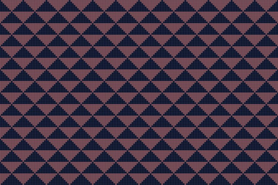 Purple Repeating Contemporary Geometric Mosaic by Artaic