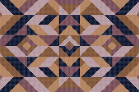 Purple Repeating Contemporary Graphic Mosaic by Artaic