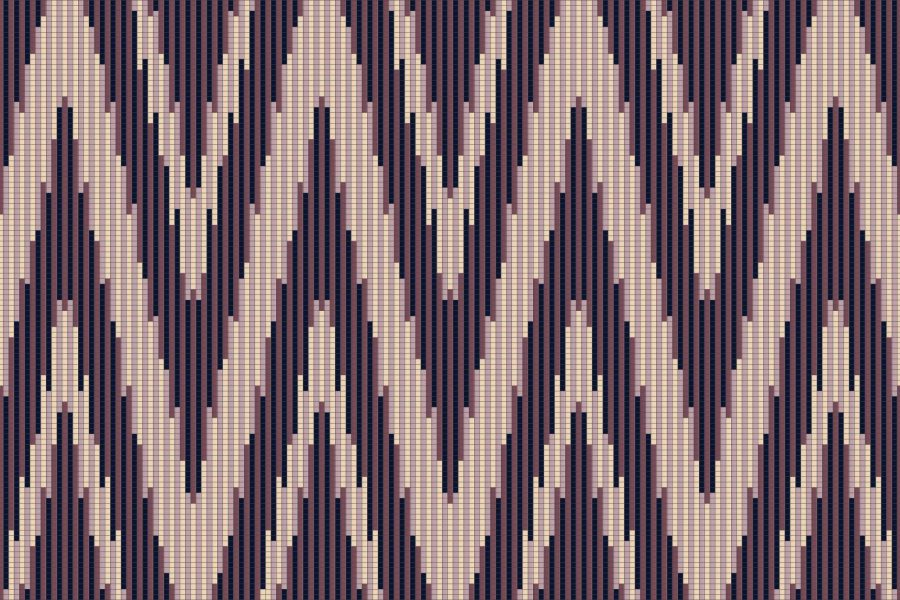 Purple Repeating Contemporary Geometric Mosaic by Artaic