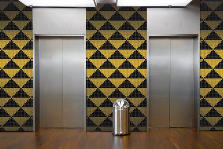 Multi Repeating Contemporary Geometric Mosaic installation by Artaic