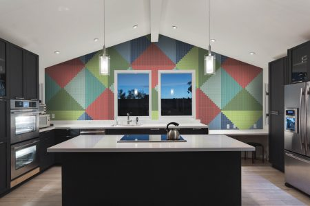 Multi Repeating Contemporary Graphic Mosaic installation by Artaic