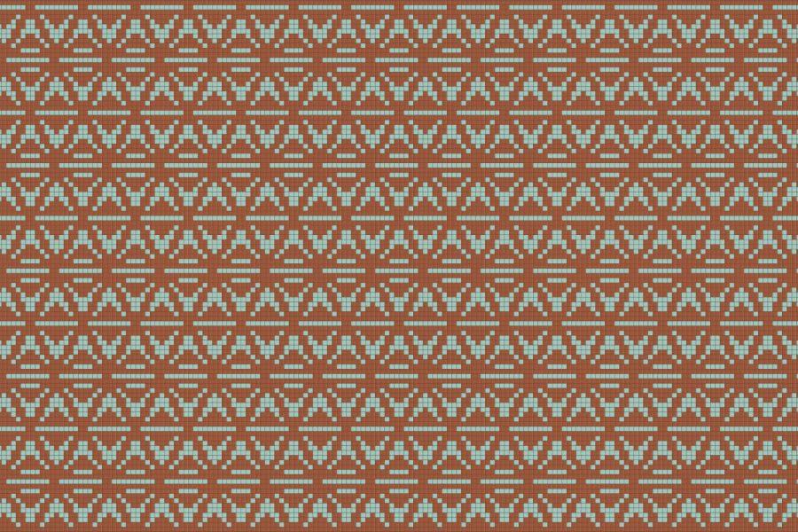 Tan Repeating Contemporary Geometric Mosaic by Artaic