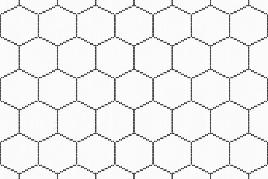 White Repeating Tile Pattern Hex