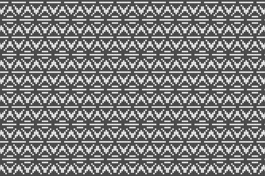 White Repeating Contemporary Geometric Mosaic by Artaic