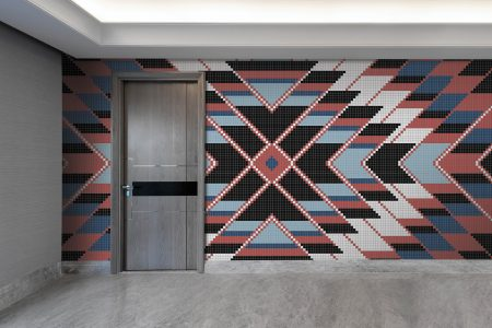Multi Repeating Contemporary Geometric Mosaic installation by Artaic